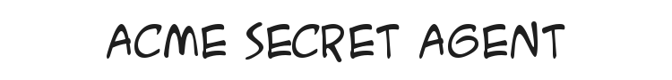 ACME Secret Agent Font Preview