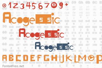 Acogessic Font