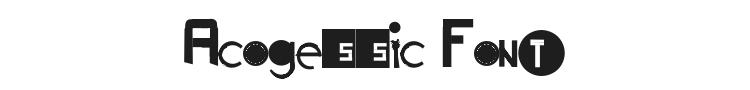 Acogessic Font Preview