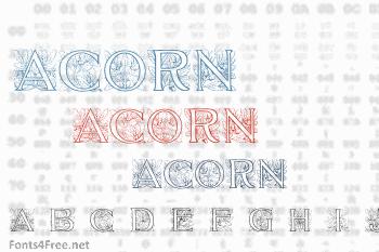 Acorn Initials Font