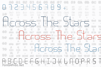 Across The Stars Font