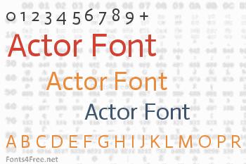 Actor Font