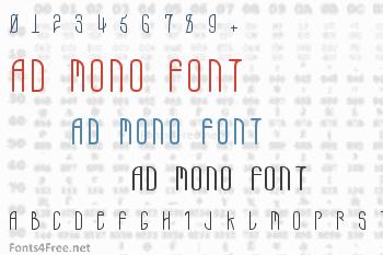 AD Mono Font