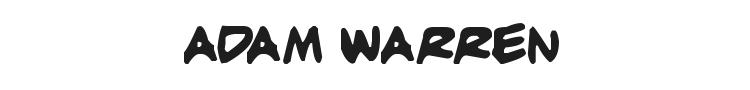 Adam Warren Font