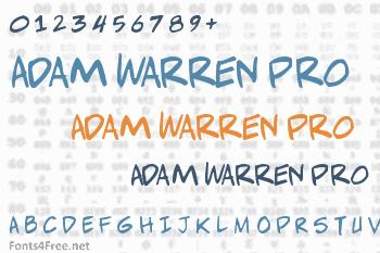 Adam Warren Pro Font