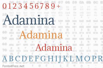 Adamina Font
