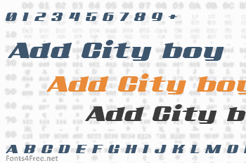Add City boy Font