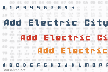 Add Electric City Font