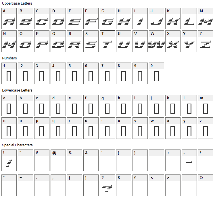 Add Shade Font Character Map