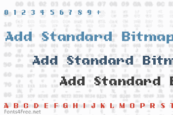 Add Standard Bitmap Font