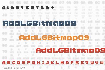 AddLGBitmap09 Font