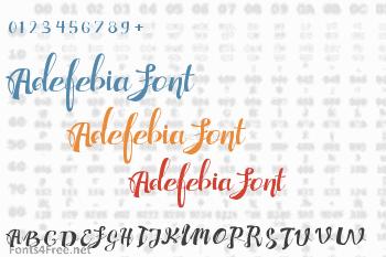 Adefebia Font