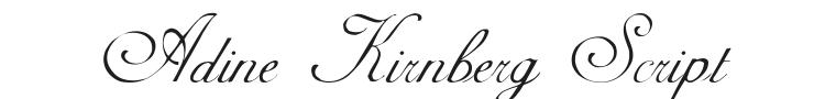 Adine Kirnberg Script Font Preview
