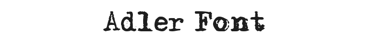 Adler Font Preview