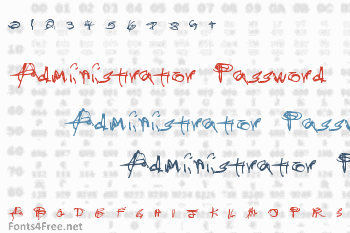 Administrator Password Font
