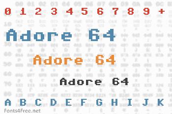 Adore 64 Font