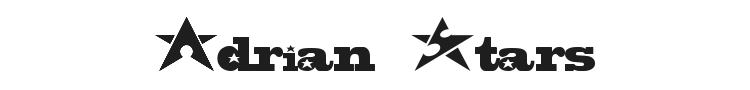 Adrian Stars Font Preview