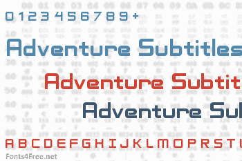 Adventure Subtitles Font