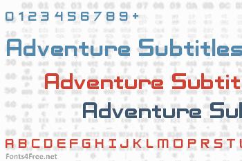 Adventure Subtitles Font