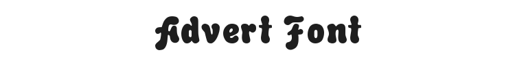 Advert Font
