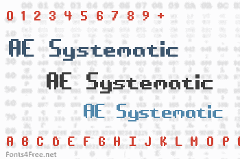 AE Systematic Font