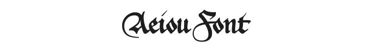 Aeiou Font Preview