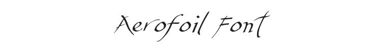 Aerofoil Font Preview