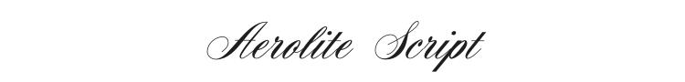 Aerolite Script Font Preview