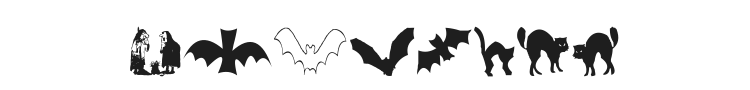 AEZ Halloween Dingbats Font Preview