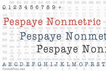AFL Font Pespaye Nonmetric Font