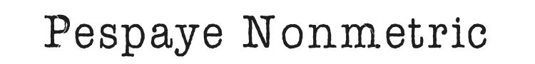 AFL Font Pespaye Nonmetric Font Preview