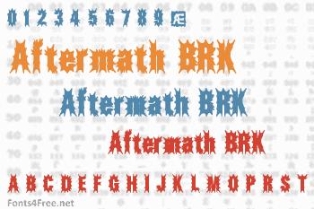 Aftermath BRK Font