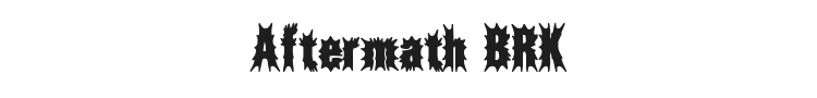 Aftermath BRK Font Preview