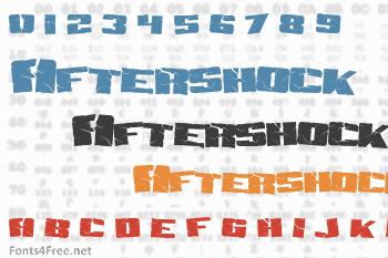 Aftershock Debris Font
