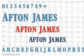 Afton James Font
