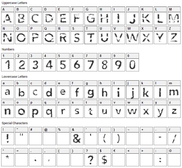 Agenda Font Character Map