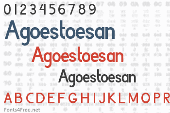 Agoestoesan Font