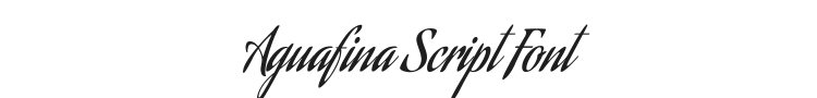 Aguafina Script Font Preview