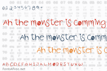 Ah the monster is comming Font