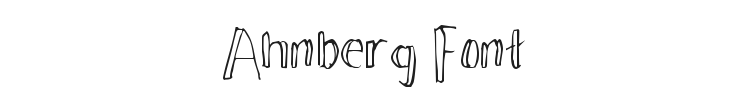 Ahnberg Font Preview