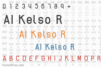 AI Kelso R Font