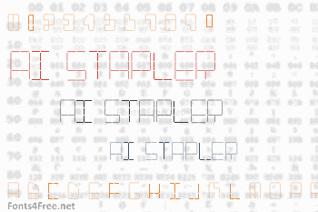 AI Stapler Font