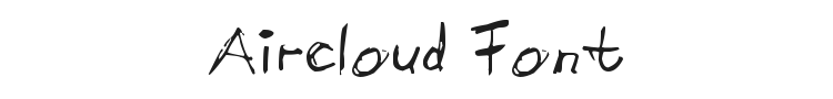 Aircloud Font Preview