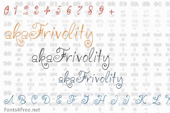 akaFrivolity Font