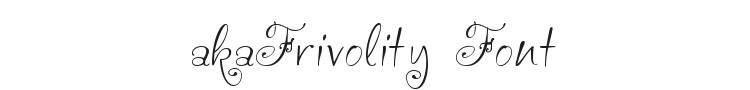 akaFrivolity Font Preview