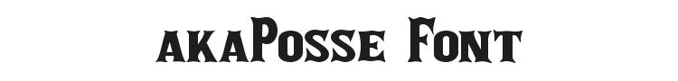 akaPosse Font