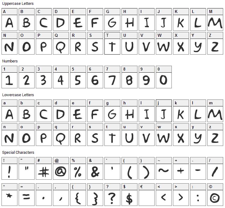 Akbar Font Character Map