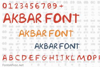 Akbar Font