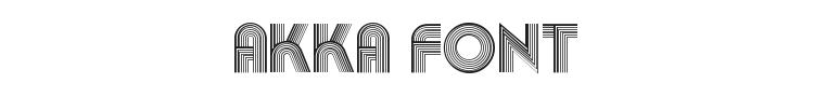 Akka Font Preview