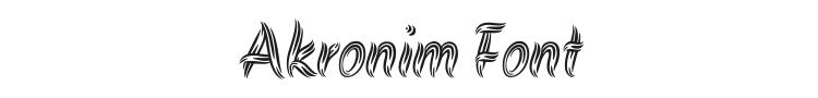 Akronim Font